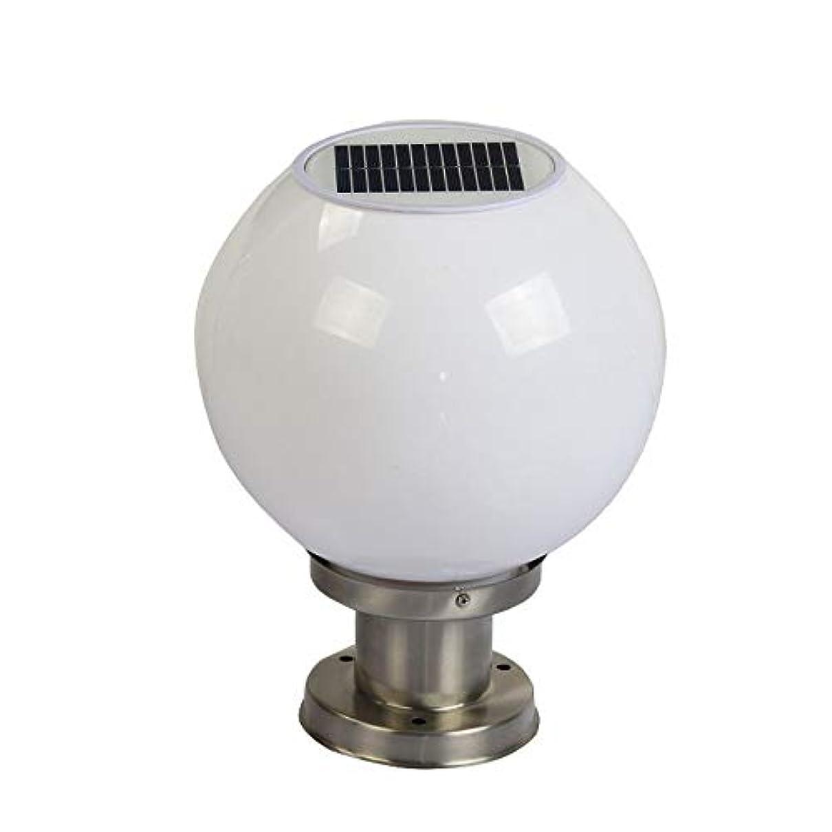 子豚欠かせない称賛IP55防水太陽エネルギーの柱ランタン ステンレス鋼のゲートの列をライトE27アクリルランプシェード明るい照明フィクスガーデンヴィラフェンスポストランプ (サイズ : L)