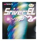 バタフライ Butterfly 卓球ラケット用ラバー スレイバー・EL 05380 裏ソフト ブラック 中(1.5 - 1.8mm)
