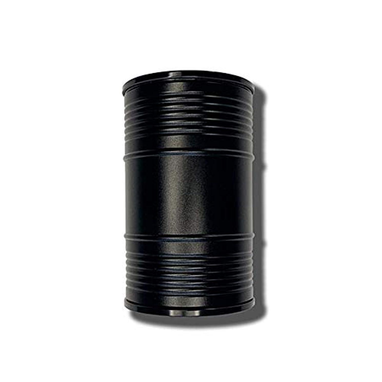 欲しいですリテラシー穏やかな創造的なオイルバレル形状ミニ車ポータブル灰皿カバーデザイン個性創造的な金属室内装飾、品質保証 (色 : 黒)