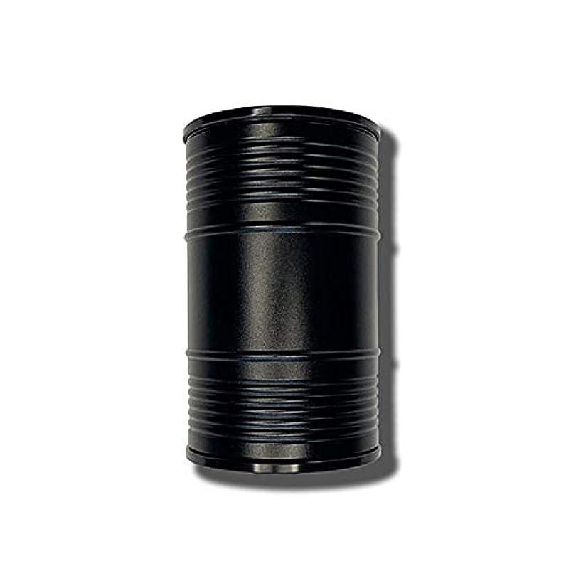 煙浸漬尾創造的なオイルバレル形状ミニ車ポータブル灰皿カバーデザイン個性創造的な金属室内装飾、品質保証 (色 : 黒)