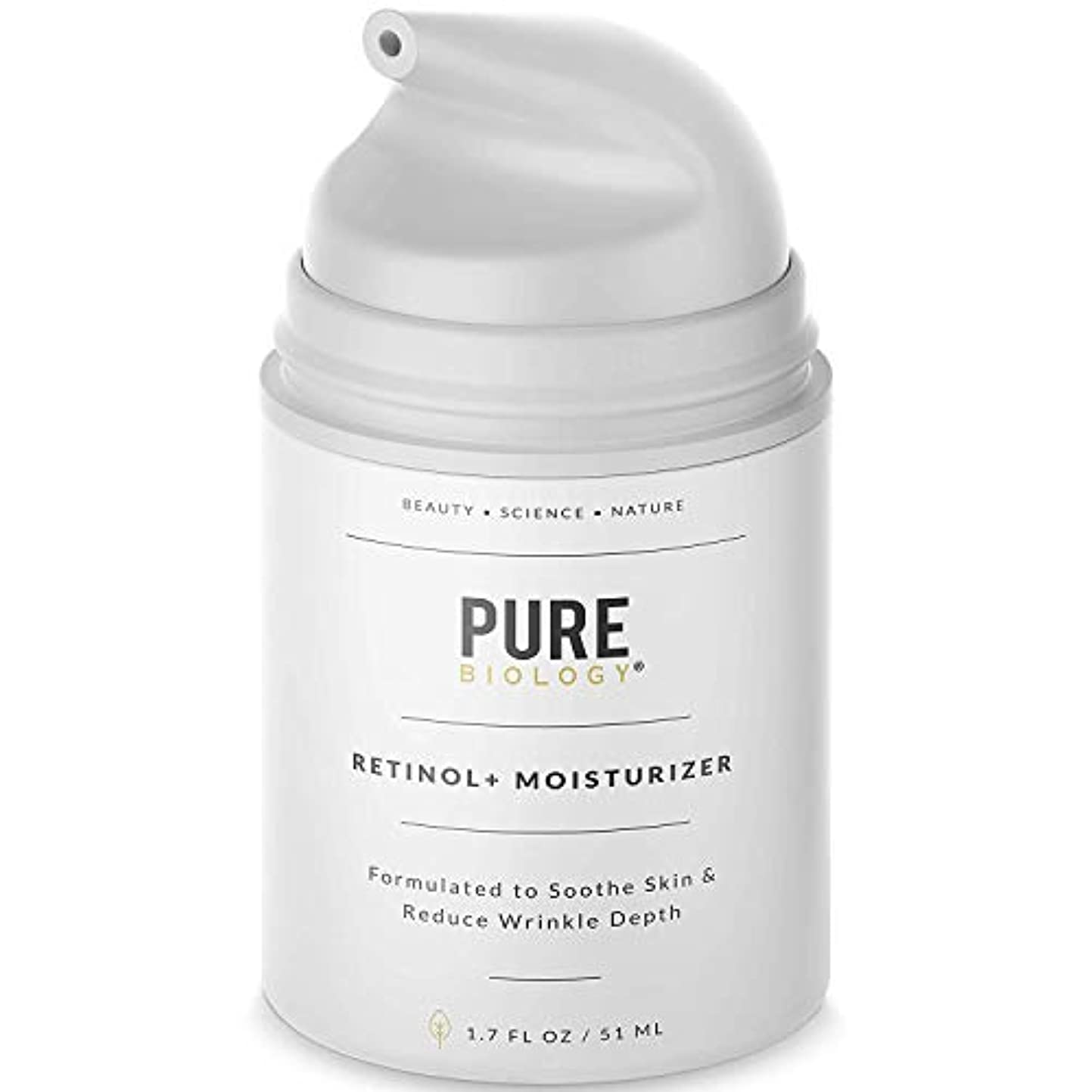 ダブル確かな好む[Pure Biology] [Premium Retinol Cream Face Moisturizer – Face & Eye Skin Care] (並行輸入品)