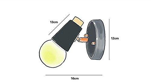 FSLiving ブラケットライト・レトロ・照明器具 アンティーク調 レトロ 壁掛け照明器具 電球別売 かっこいい 白(コンセント式 スイッチ付き)