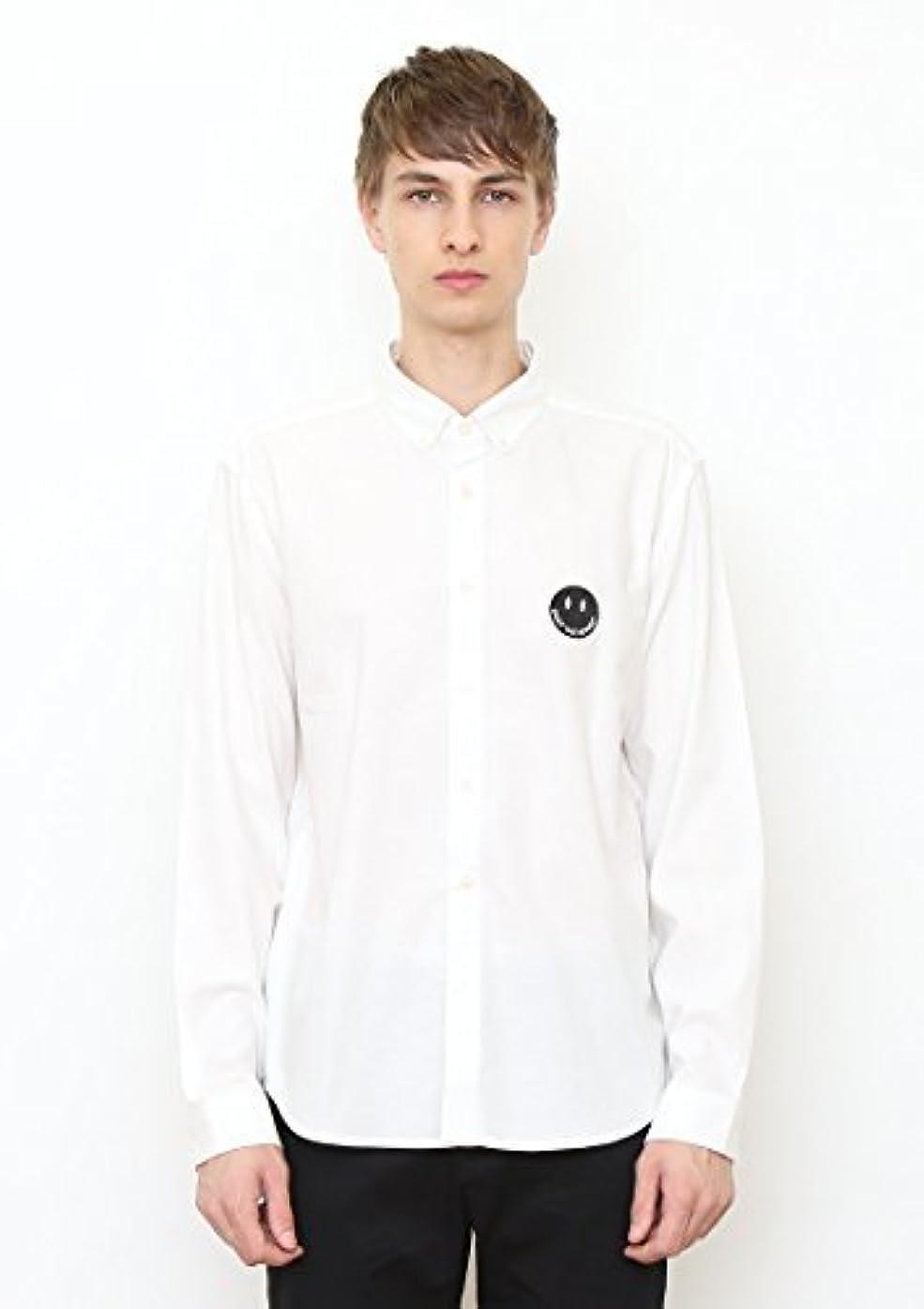 保安プレーヤー借りている(グラニフ) graniph グラフィック ロング スリーブ シャツ A/エンジョイ アンド スマイル (ホワイト) M
