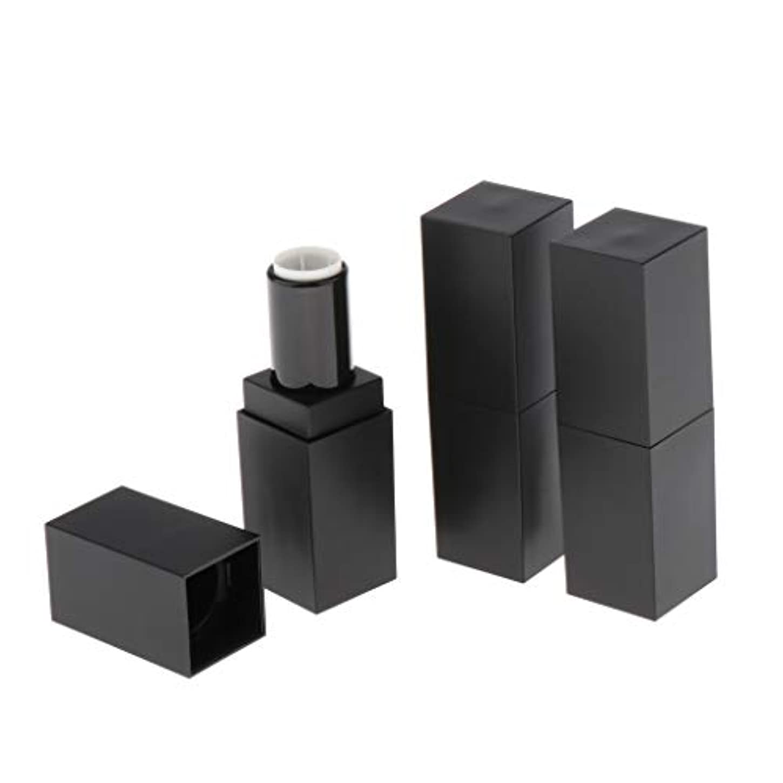 重荷煩わしい雑多なリップスティック 空チューブ 口紅 DIY 手作り 化粧品 コスメ コンテナ 小分け 12.1MM 3個 - ブラック