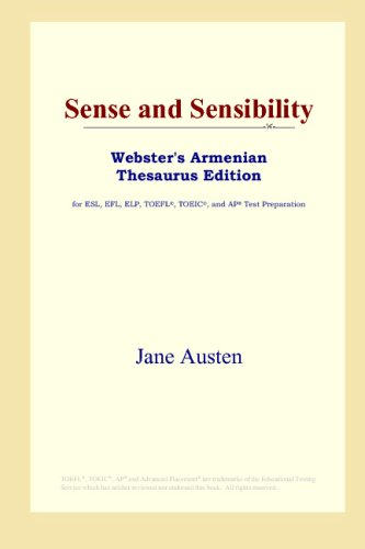 Download Sense and Sensibility (Webster's Armenian Thesaurus Edition) B00125AO5S