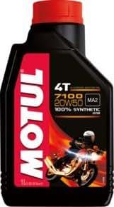 MOTUL(モチュール) 7100 4T 20W50 バイク用100%化学合成オイル 1L[正規品] 11118111