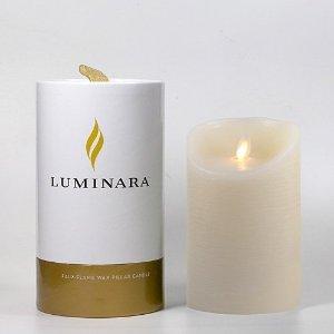 RoomClip商品情報 - LUMINARA ローズの香り [リモコン対応バージョン] キャンドル型LEDライト ルミナラ ピラー タイマー機能付き 3.5 x 5 (Φ90×H140mm)