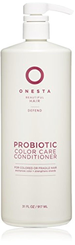 偽装するホイスト転送Onesta Hair Care プロバイオティクスの色ケアコンディショナー、31液量オンス 31オンス