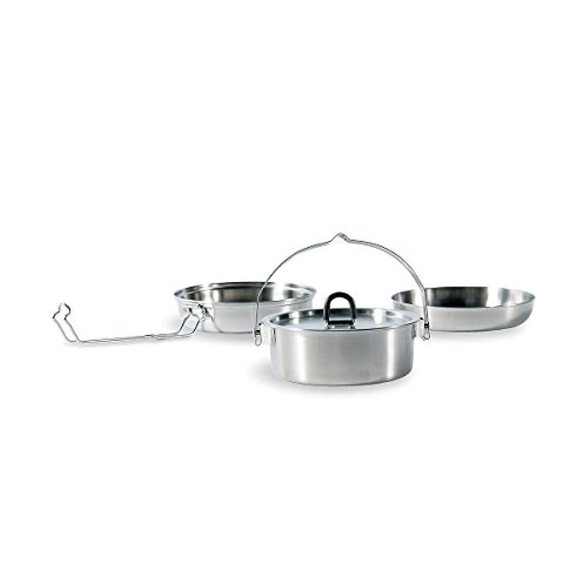 保守可能オーブン迅速Tatonka 調理器具 Camp セット、レギュラー ホワイト/グレー