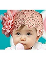Doinshop Colorful Baby Kids Lace Flower Headband Hair Bow Band Accessories Headwear (pink) by Doinshop (TM)