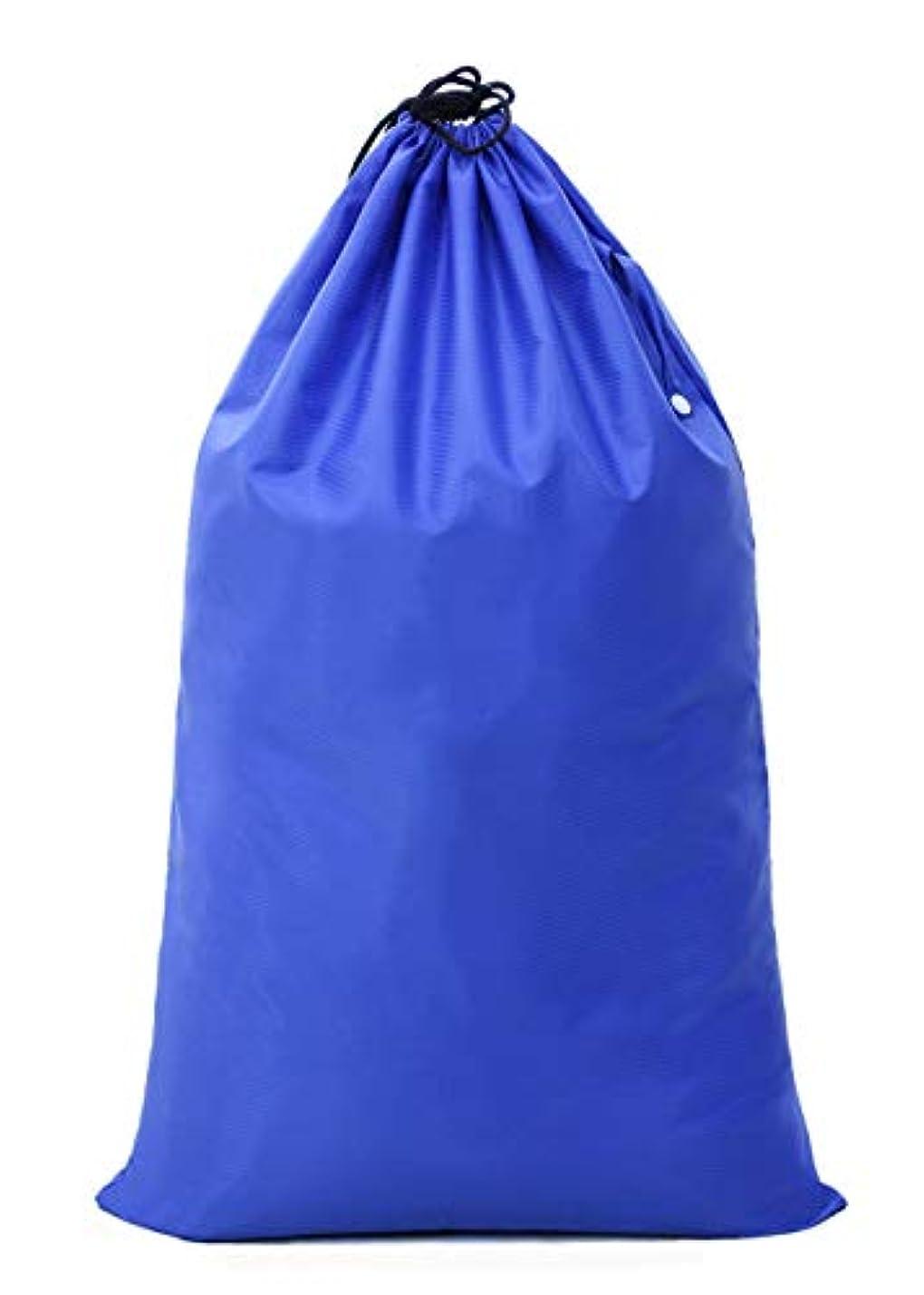 大混乱古風な幾分【Y.WINNER】特大サイズ 巾着袋 収納袋 (106*70CM) 強力撥水加工 アウトドア キャンプ 旅行 バッグ 万能巾着袋 大きいサイズの着替え袋にも使える YWN9976K ブルー (106*70CM)