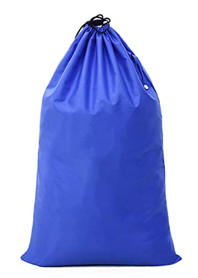 重要性機関車粘性の【Y.WINNER】特大サイズ 巾着袋 収納袋 (70*45CM)強力撥水加工 アウトドア キャンプ 旅行 バッグ 万能巾着袋 大きいサイズの着替え袋にも使える YWN9976K ブルー (70*45CM)