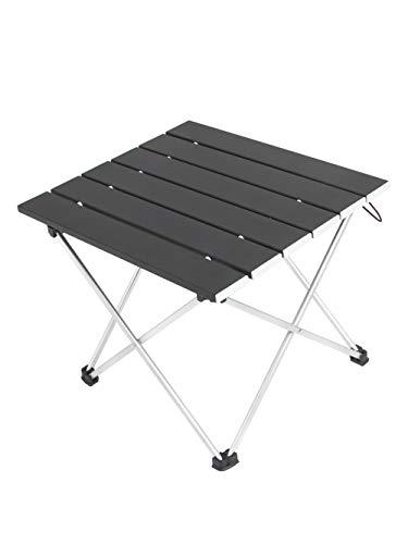 AQI ロールテーブル アルミ製 折りたたみ式 耐荷重30kgまで コンパクト 滑り止め アウトドア ハイキング キャンプなど 専用収納袋付き 【一年間保証 】