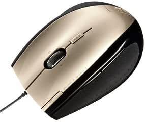 サンワサプライ 縦横スクロールレーザーマウス シャンパンゴールド MA-LS19GD