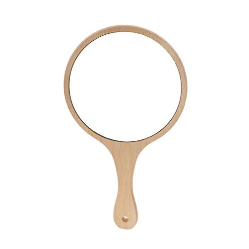 眠りがっかりする増幅するInjoyo ハンドミラー 手鏡 化粧鏡 女優ミラー メイクミラー 木製ミラー ハンド鏡 全5選択 - ラウンドL