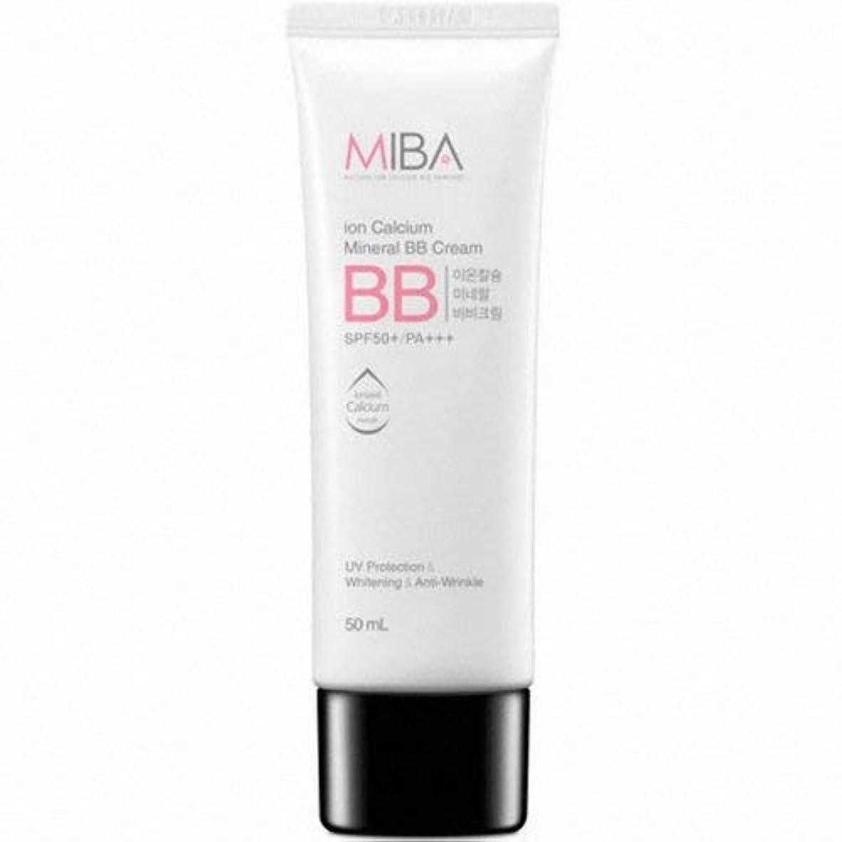 名門散歩に行く血色の良いMINERALBIO ミバ イオン カルシウム ミネラル ビビクリーム/MIBA Ion Calcium Mineral BB Cream (50ml) [並行輸入品]