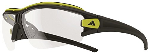 adidas(アディダス) サイクル サングラス 調光レンズ evil eye halfrim pro Lサイズ マットブラックグロウ×クリアーグレイ A181 01 6091