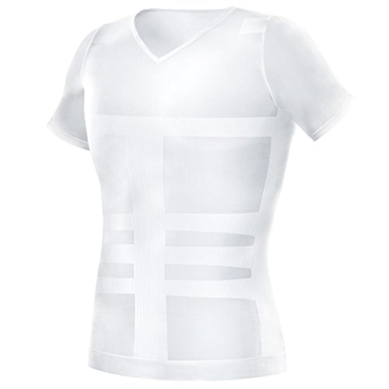 La-VIE(ラヴィ) 加圧インナーシャツ クールドライ加圧シャツ Lサイズ カラー ホワイト 3B-3757