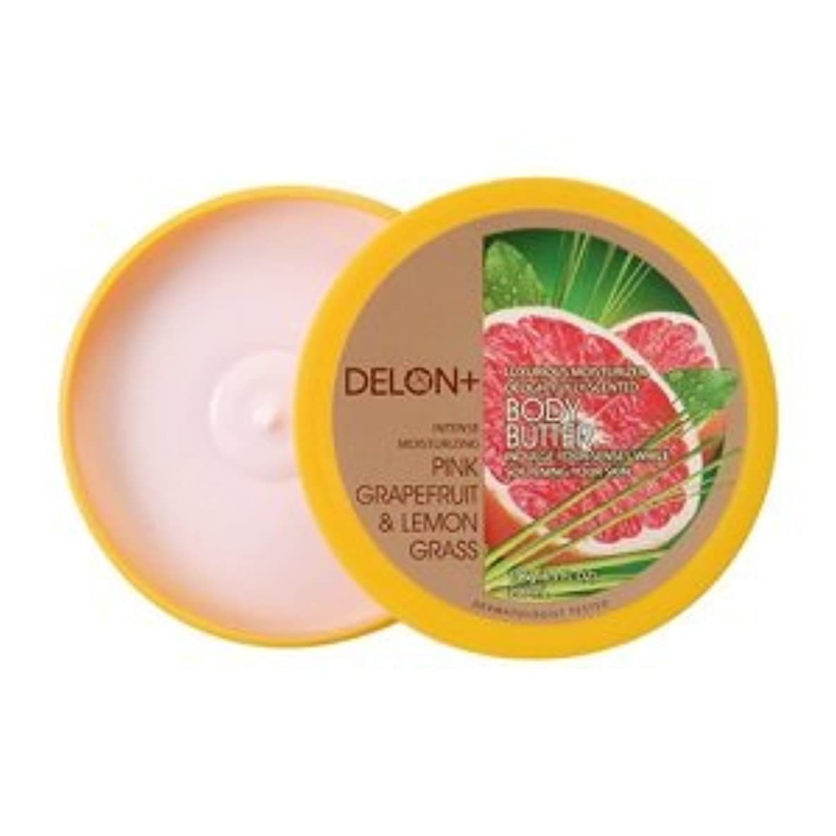 スイス人慣性繰り返すデロン ボディバター ピンクグレープフルーツ & ;レモングラス 196g ボディクリーム