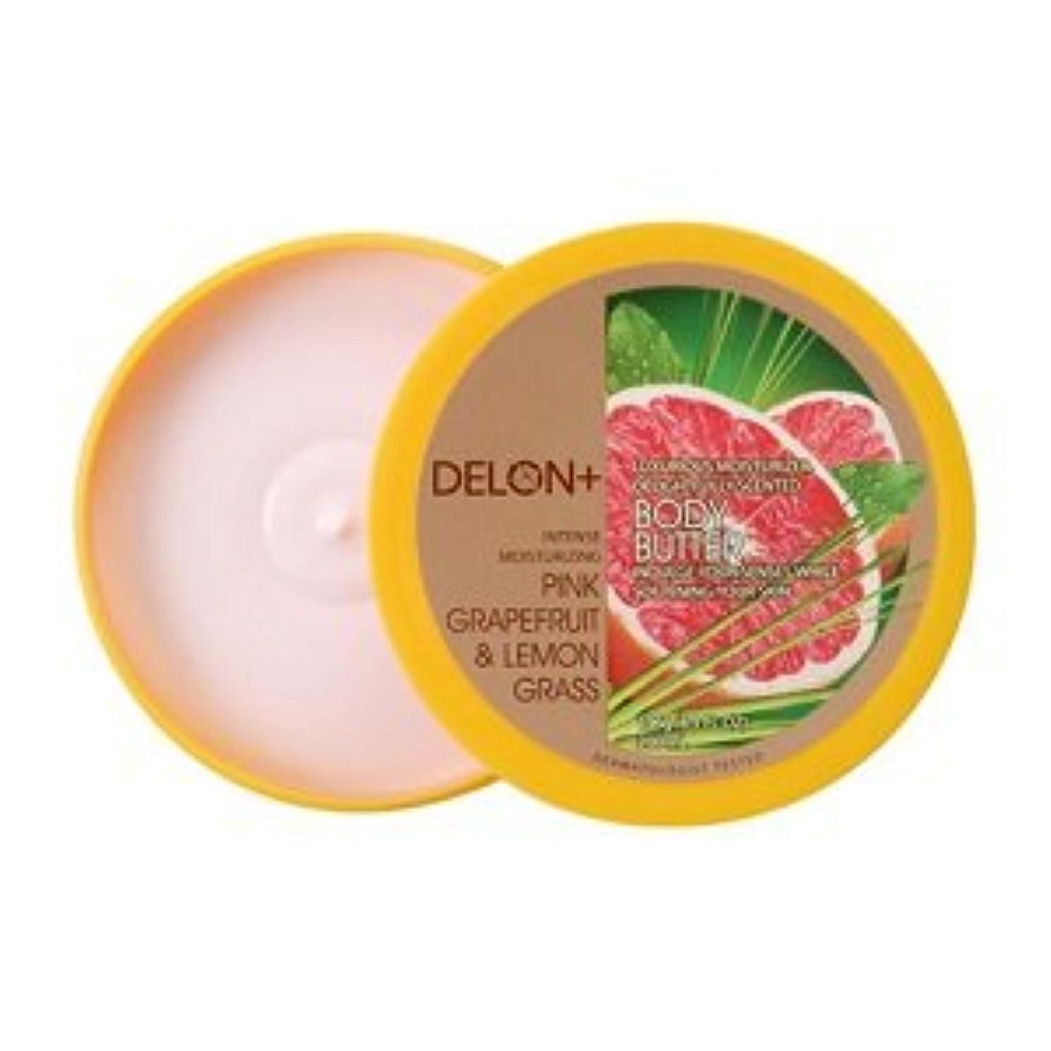肝大騒ぎ扇動デロン ボディバター ピンクグレープフルーツ & ;レモングラス 196g ボディクリーム