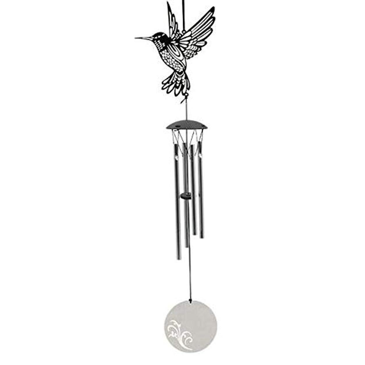 百万対人スズメバチYougou01 風チャイム、メタルクリエイティブ4チューブ風の鐘、シルバー、47.5CMについて全長 、創造的な装飾 (Color : C)