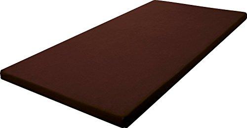 SLEEple スリープル 高反発マットレス 8cm厚 高反発ウレタン 三つ折りバンド付き シングル ブラウン