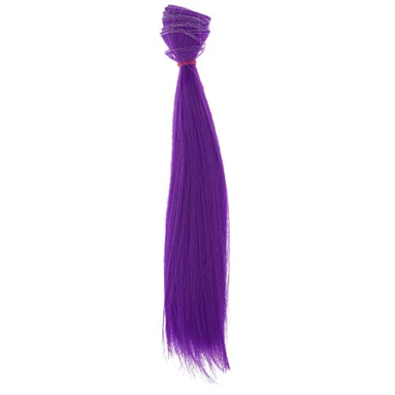 放散するミスええTachiuwa 25cmロングストレートドールDIYヘアエクステンションは、すべての人形8色に適合 - 紫