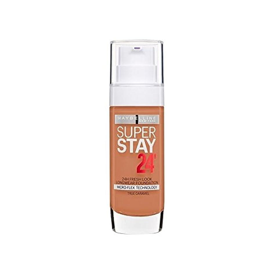 感度絶対のすべきMaybelline SuperStay 24h Liquid Foundation 58 Caramel 30ml (Pack of 6) - メイベリン 24時間リキッドファンデーション58キャラメル30ミリリットル...