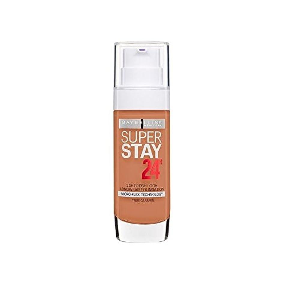 読む工業化する医療のMaybelline SuperStay 24h Liquid Foundation 58 Caramel 30ml (Pack of 6) - メイベリン 24時間リキッドファンデーション58キャラメル30ミリリットル...