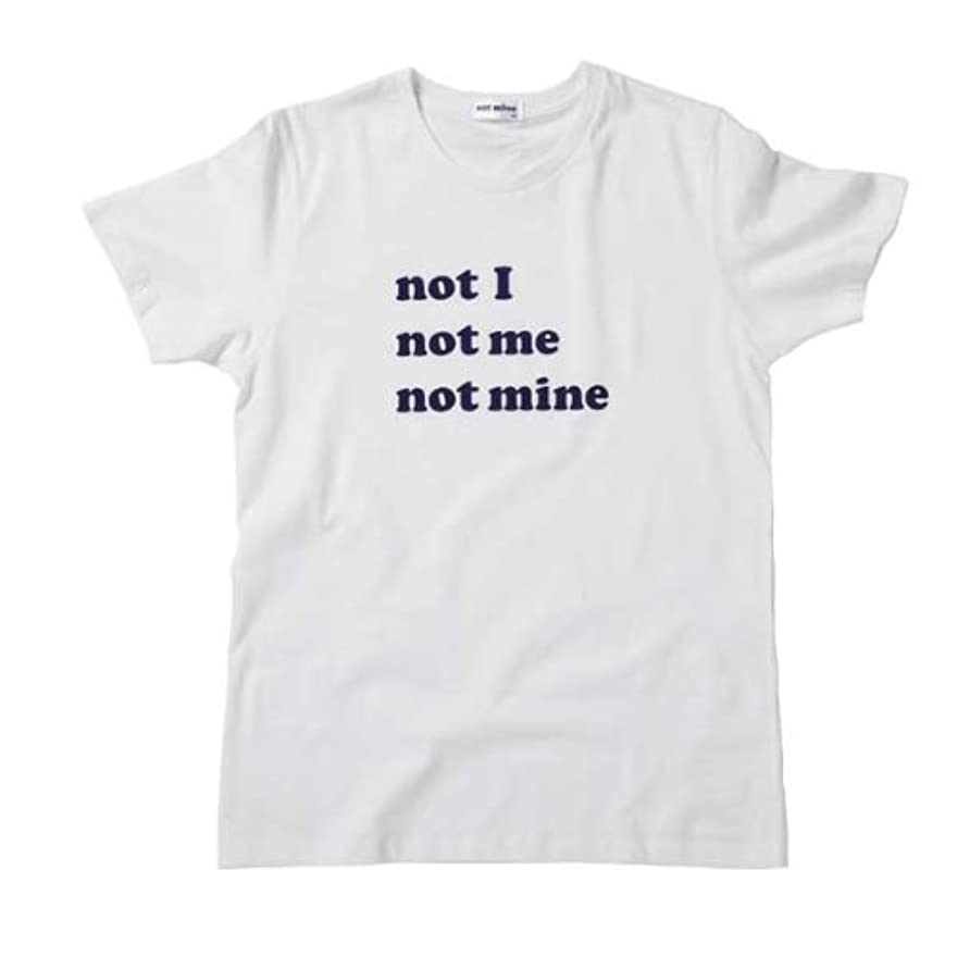 再撮りヒゲリンクnot mine Tシャツ - I ME MINE (not mine logo)
