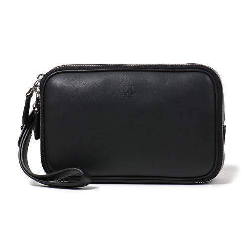 Dunhill ダンヒル DUL3CE90A レザー セカンドバッグ クラッチバッグ リストレット付き BLACK メンズ ブラック / [並行輸入品]