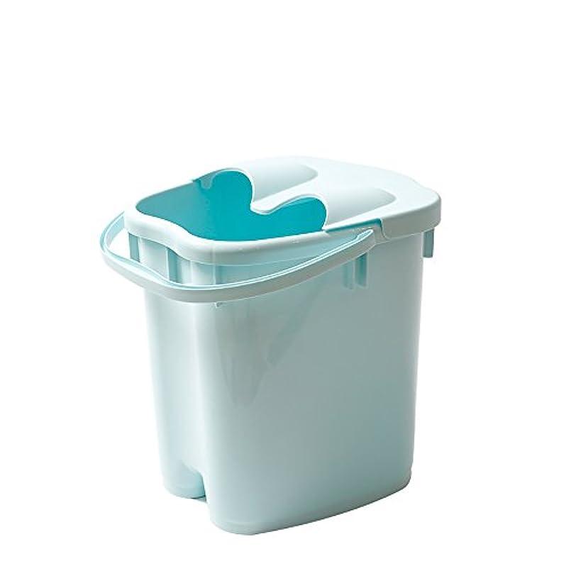 フットバスバレル厚いプラスチックマッサージフットバスは、家庭の足湯20Lの大容量高水レベルを高め22 * 30 * 40センチメートル (色 : Blue)