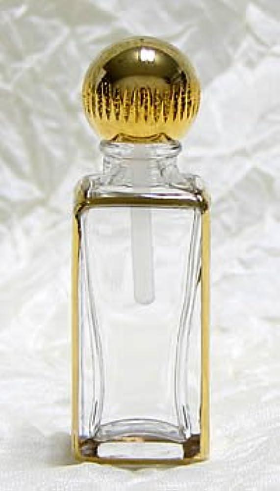 パースパフュームボトル スクエア 手描き ゴールド