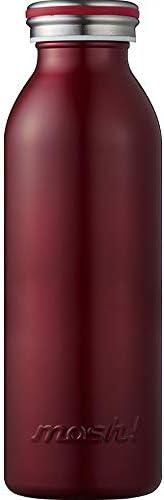 水筒 真空断熱 スクリュー式 マグ ボトル 0.45L バーガンディ mosh! (モッシュ! ) DMMB450BU