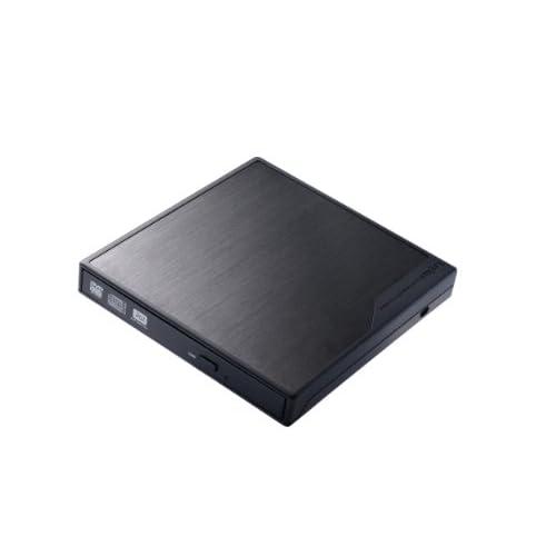 Logitec ポータブル DVDドライブ  USB3.0 軽量300g ArcSoft TotalMedia Backup&Record付属 【Surface Pro 対応】 ブラック LDR-PMG8U3LBK