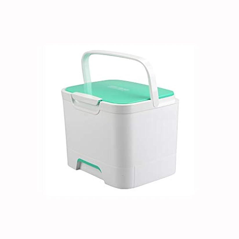 ポータブル薬箱プラスチック多層応急処置キット薬収納ボックス家庭用医療箱25.2×20×19 cm AMINIY