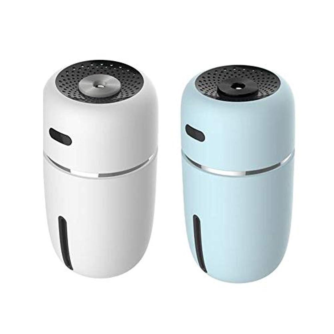 状況カストディアンハンディキャップIku夫 使いやすいミニナノスプレー美容器加湿器ABS素材USB充電車オフィス空気浄化水道メーター夜ライトブルーホワイト (色 : White)