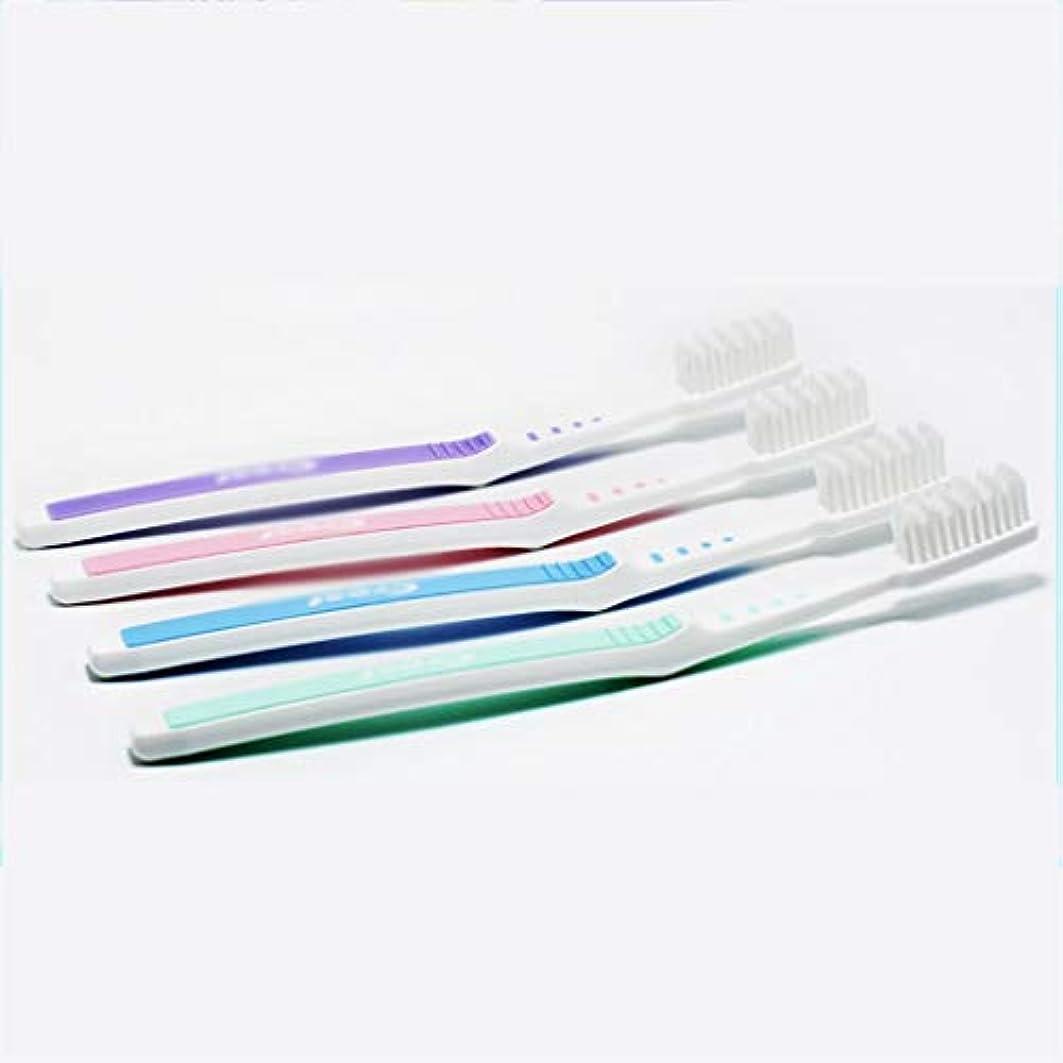 眼ぼんやりした気付く手動歯ブラシ、家庭用ヘアブラシ、6パック(ランダムカラー)