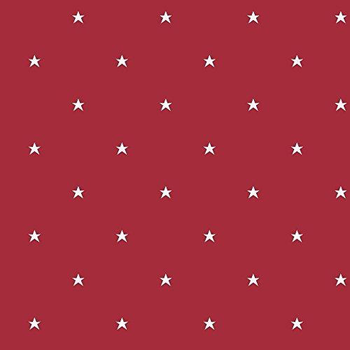 York Wallcoverings BS5481 Room To Grow Stars Wallpaper, Red/White [並行輸入品]