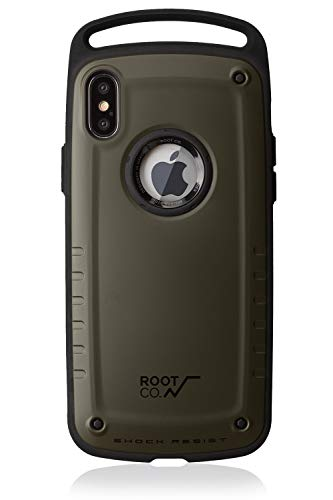 【ROOT CO.】iPhoneX iPhoneXS 耐衝撃 ケース GRAVITY Shock Resist Case Pro. (マットカーキ)米軍MIL規格取得