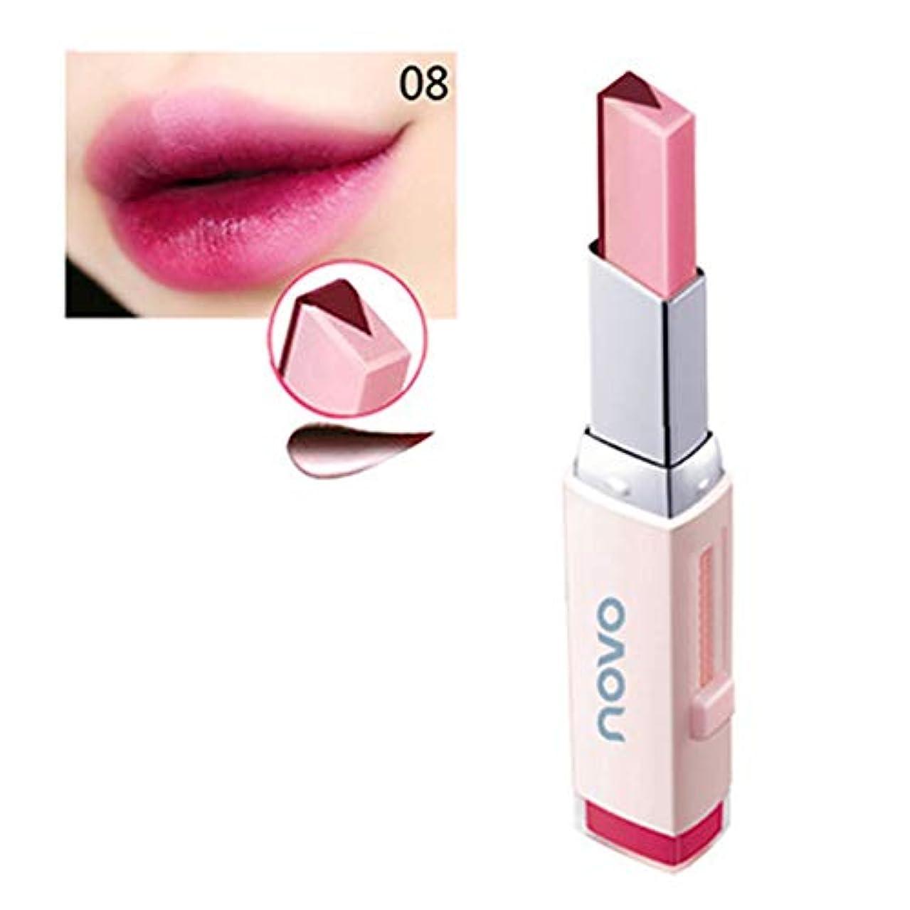 キャンドル腐敗スクラッチKimyuo 二重色Vの形の唇の構造の口紅の保湿の栄養の口紅8色