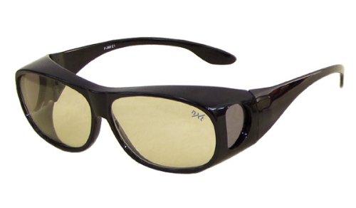 デイ & ナイト オーバー サングラス レンズは 生涯保証 !マグナム弾 も通さない イタリア製 レンズ 使用! ( ブラック )