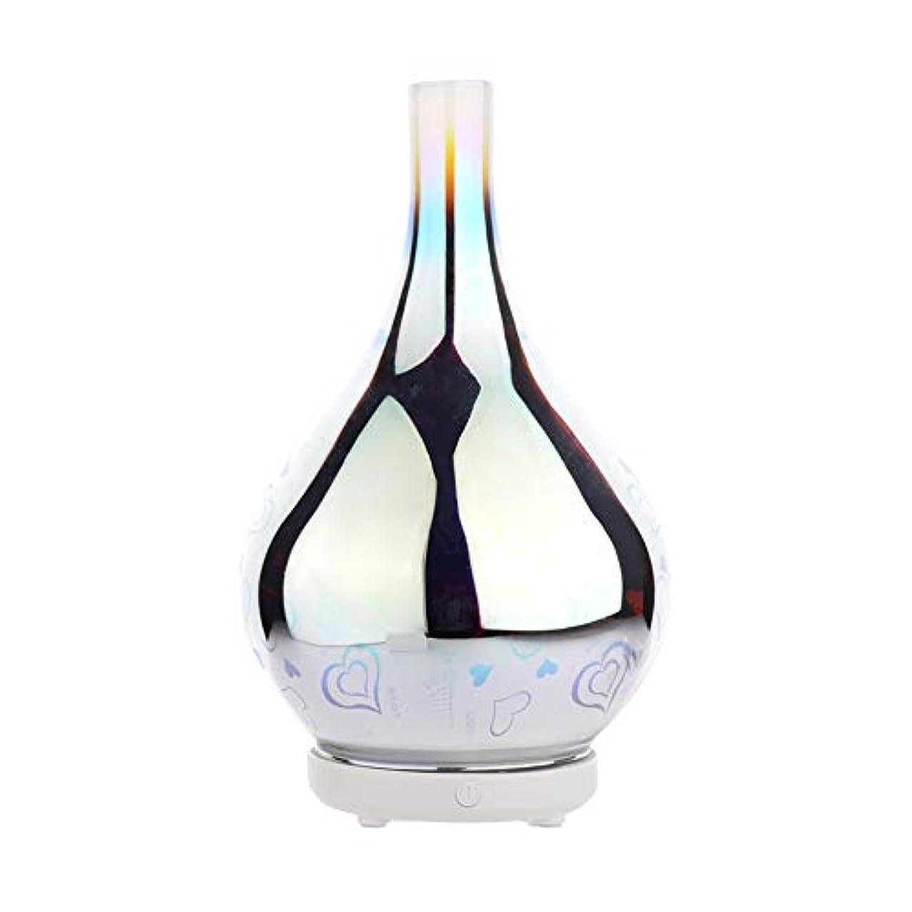DC 二色 3Dガラス夜ライトアロマテラピーマシン 精油の拡散器 香りのアロマセラピー アロマセラピーディフューザー