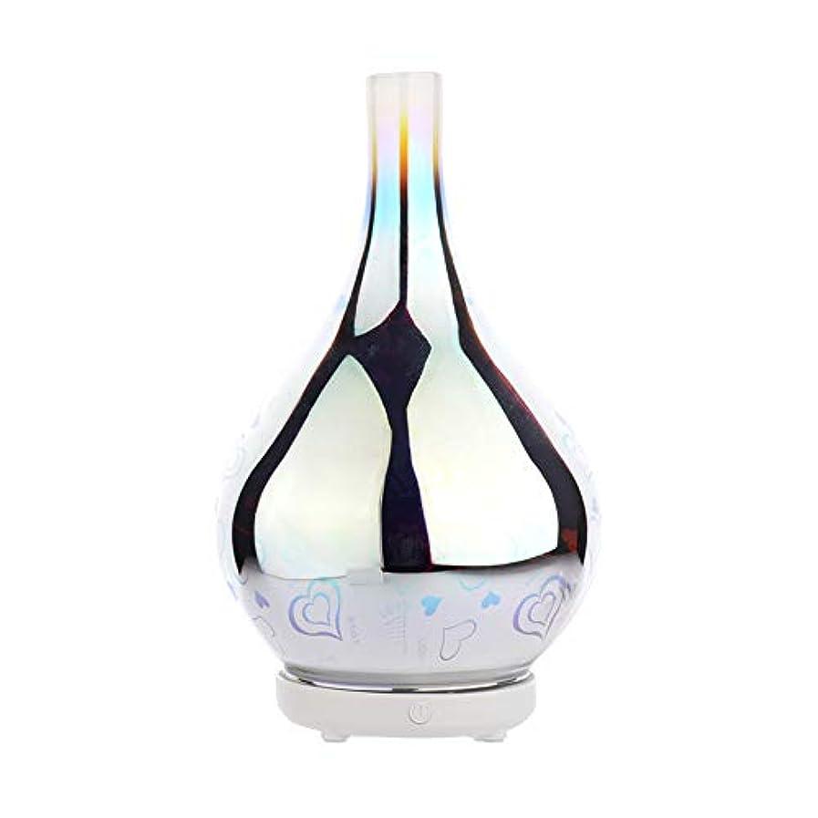 コマンド市の中心部太字DC 二色 3Dガラス夜ライトアロマテラピーマシン 精油の拡散器 香りのアロマセラピー アロマセラピーディフューザー