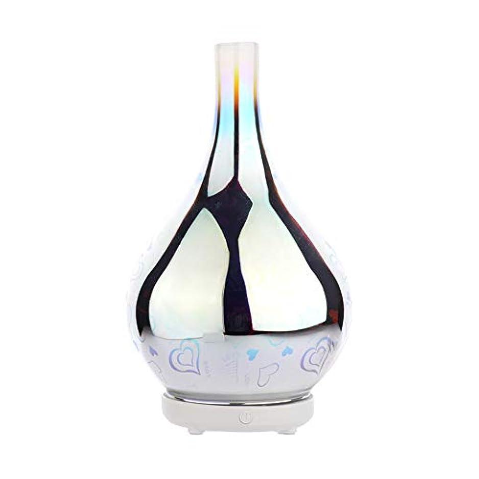 冬無効クアッガDC 二色 3Dガラス夜ライトアロマテラピーマシン 精油の拡散器 香りのアロマセラピー アロマセラピーディフューザー