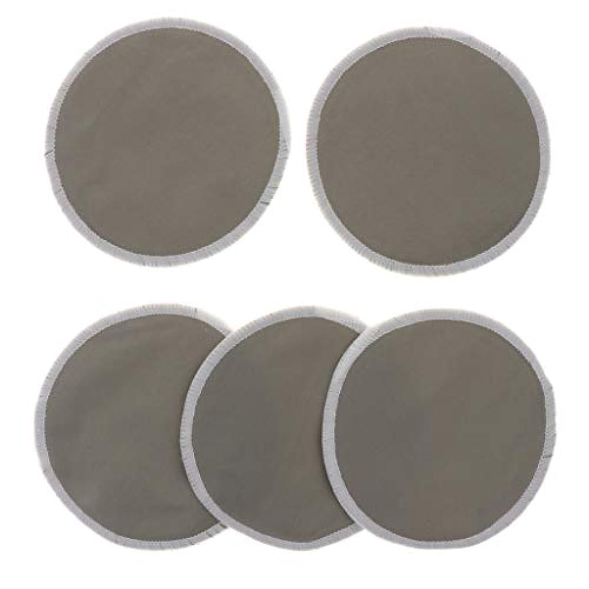 カヌーサスペンションカビCUTICATE 胸パッド クレンジングシート メイク落とし用 竹繊維 円形 12cm 吸収性 再使用可能 5個 全5色 - グレー