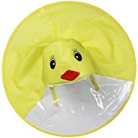 MagiDeal Yellow Duck Rain Cover UFO Kids Raincoat Umbrella Outdoor Play Supplies