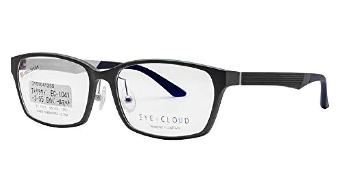 集中数学者アリ鯖江ワークス(SABAE WORKS) 遠近両用メガネ 軽量 男性用 グレー EC1041C3 遠用度なし 度数+2.00