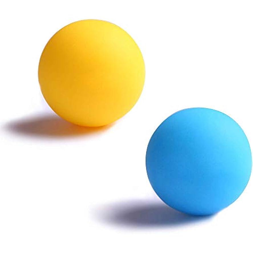 釈義電球原始的な2個セット背中 肩こり 腰 ふくらはぎ 足裏トリガーポイント トレーニングストレッチボールマッサージボール