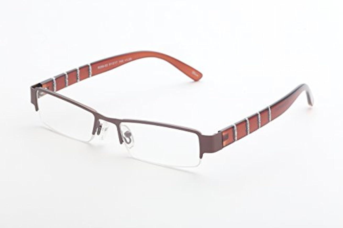 吐き出す特別な演じるズームマジック 老眼鏡 R-288-02 ブラウンラメライン 度数:2.00